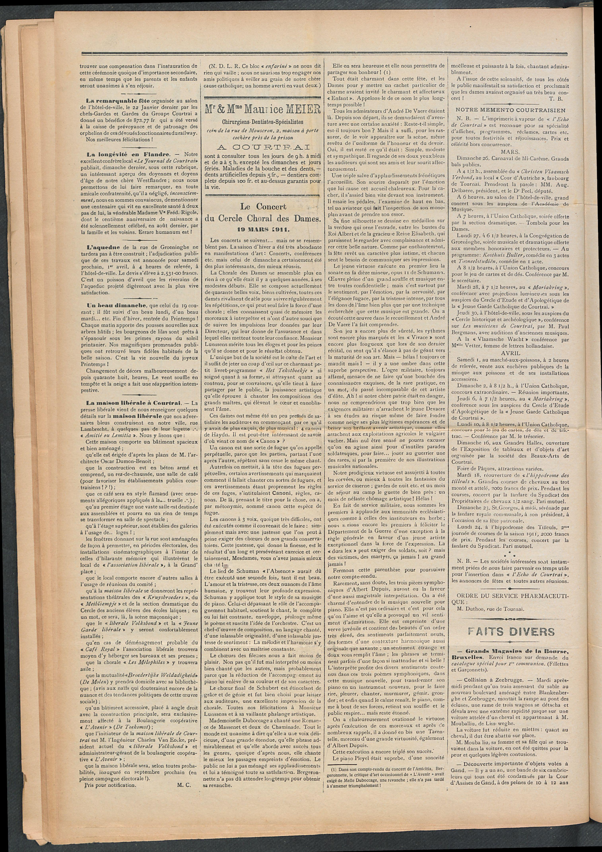 L'echo De Courtrai 1911-03-26 p2