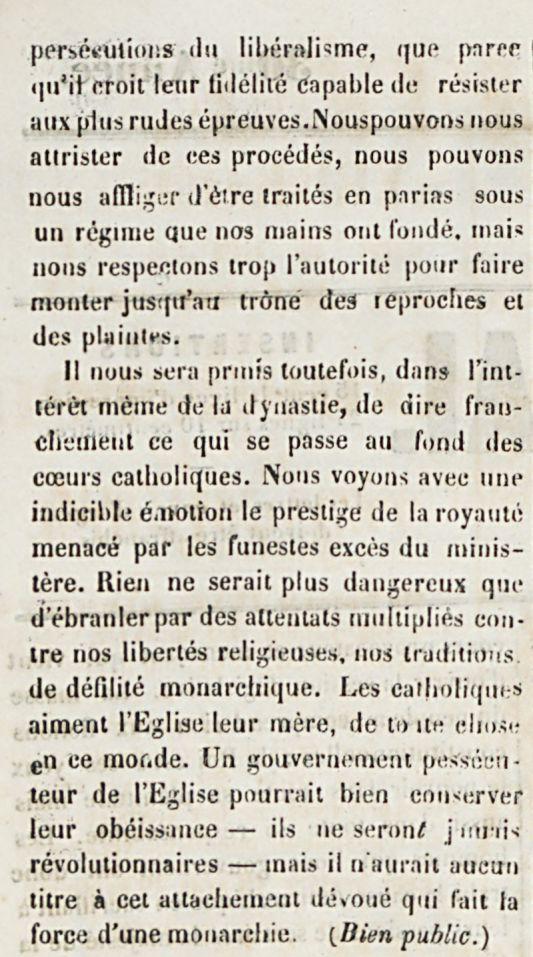 Les catholiques et la  Royanté-3