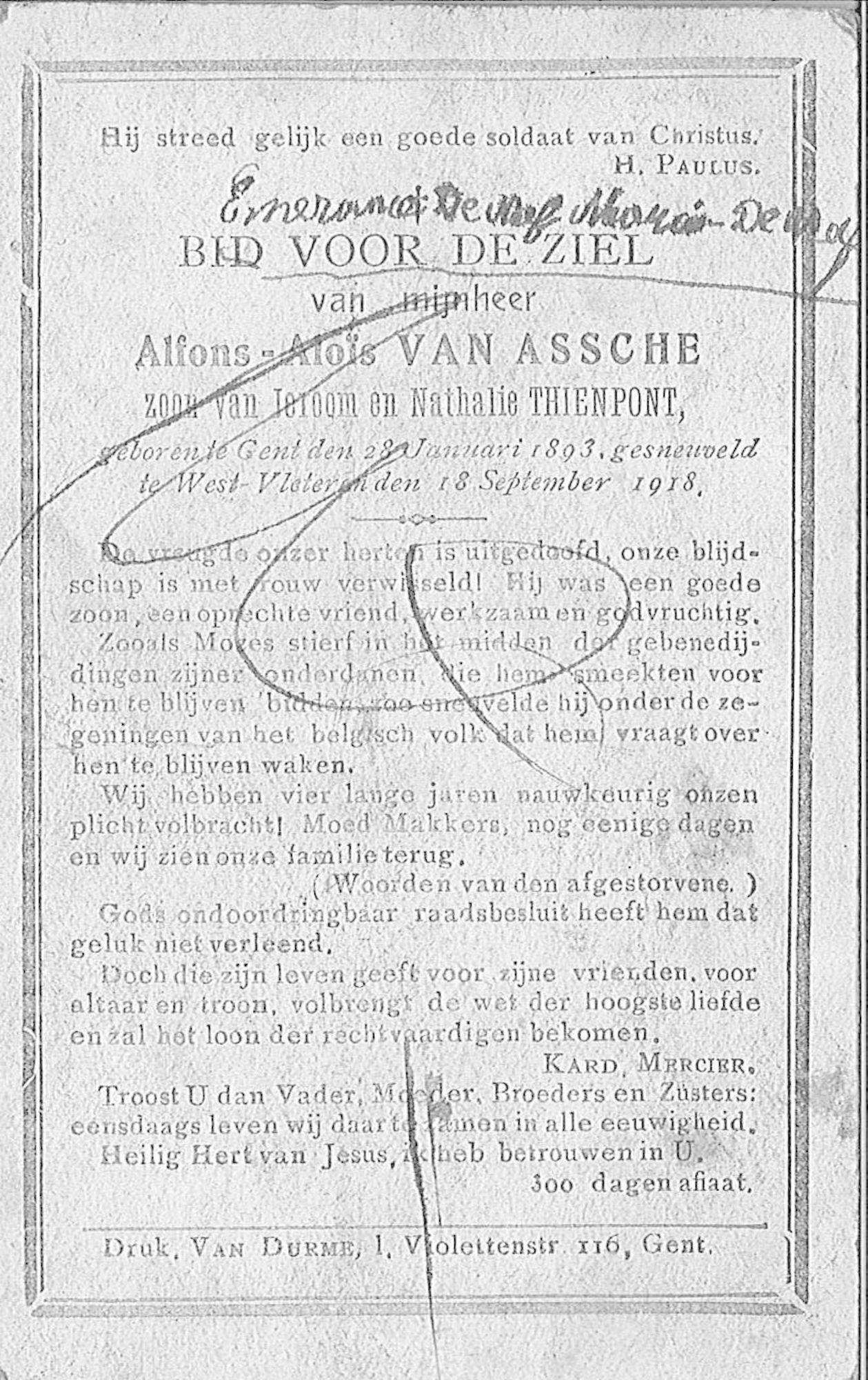 Alfons-Aloïs Van Assche