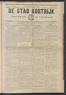 De Stad Kortrijk 1905-09-30 p1