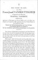 Vanhoutteghem Frans-Jozef