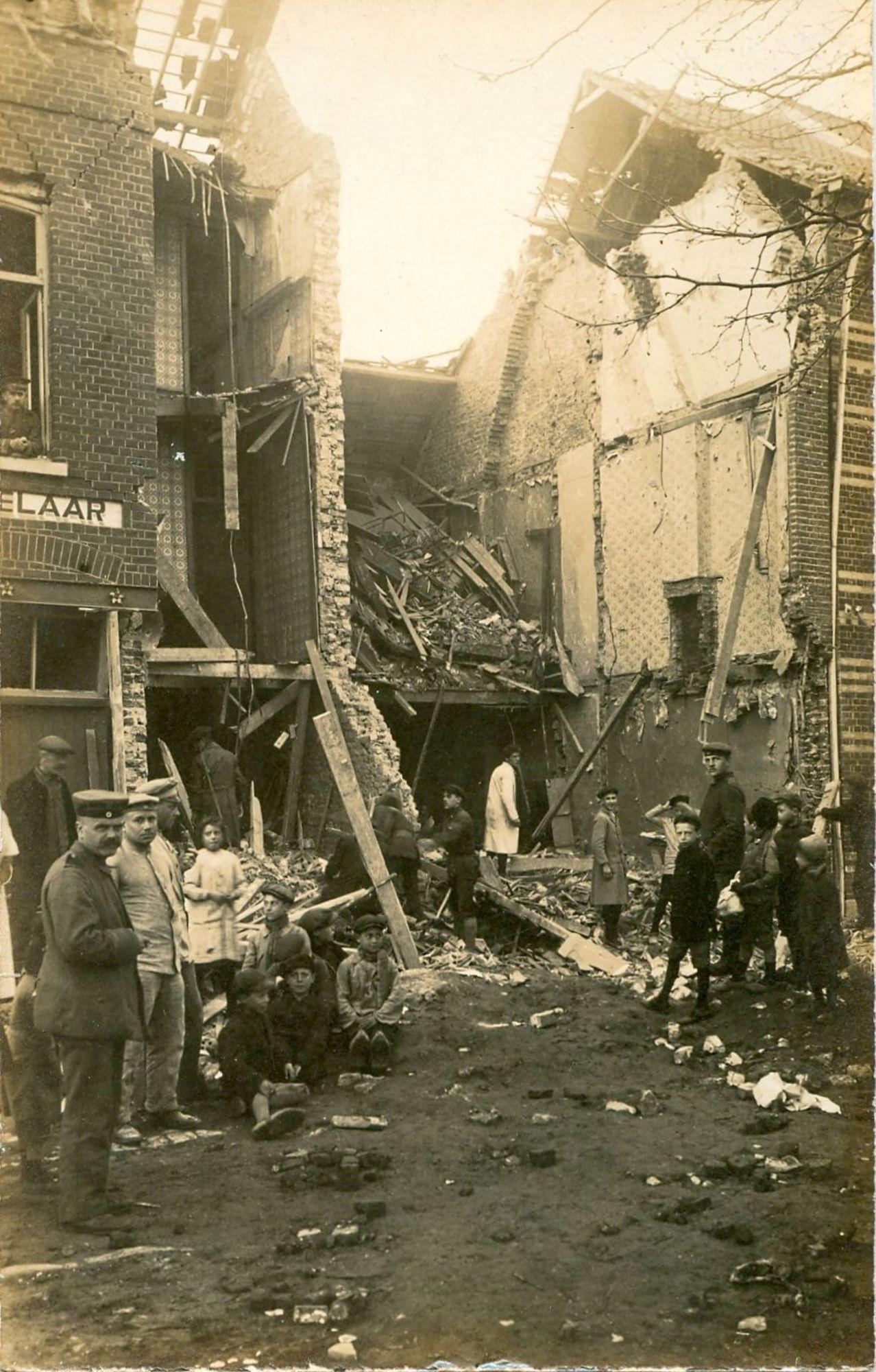 Meensestraat in 1918