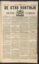 De Stad Kortrijk 1889-09-01 p1