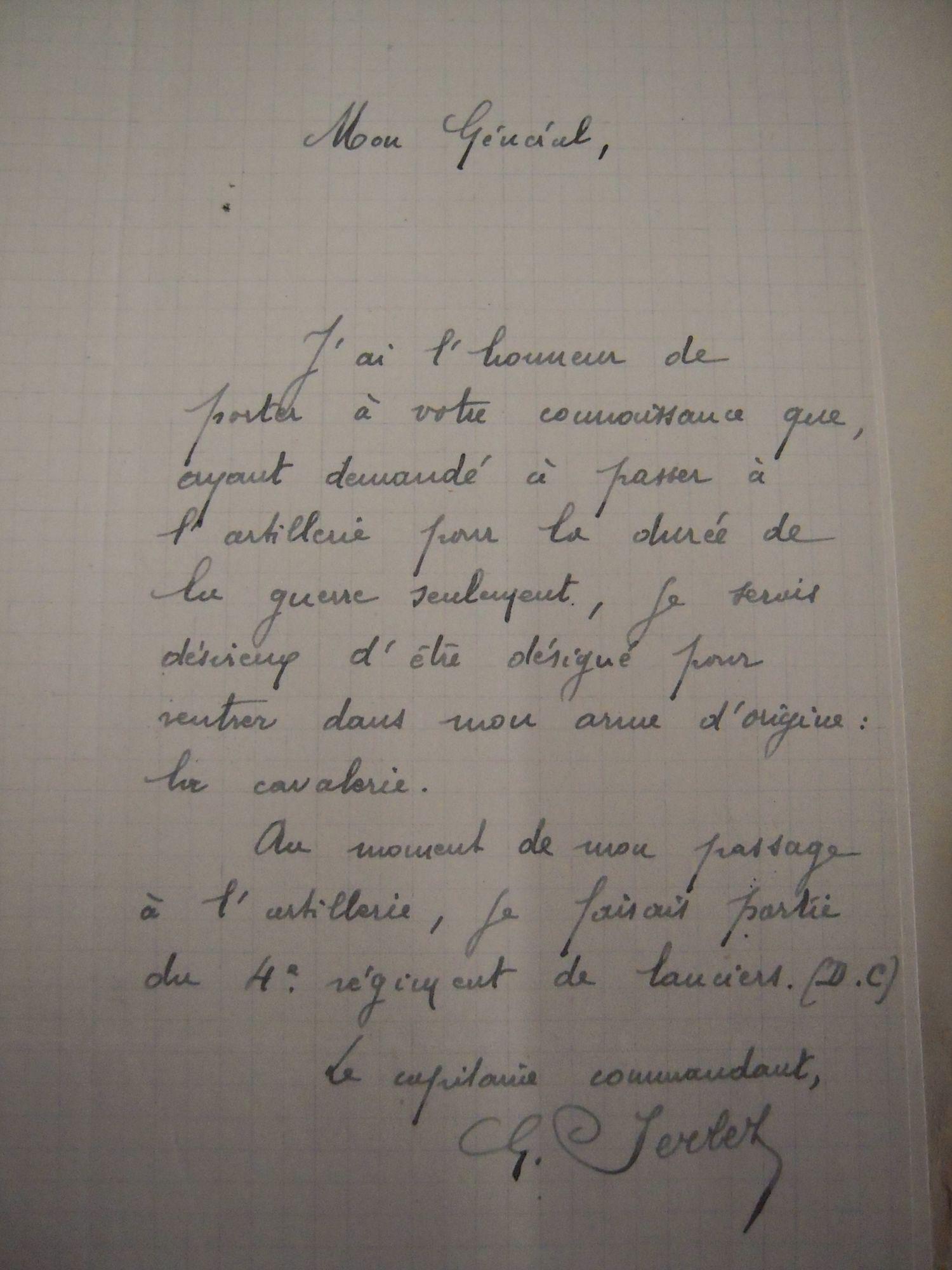 Brief van George Serlez