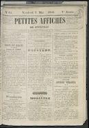 Petites Affiches De Courtrai 1841-05-07