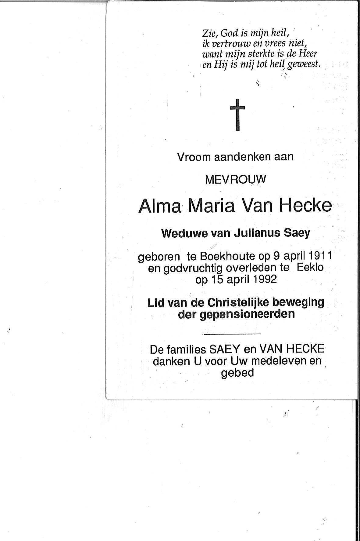 Van Hecke Alma-Maria