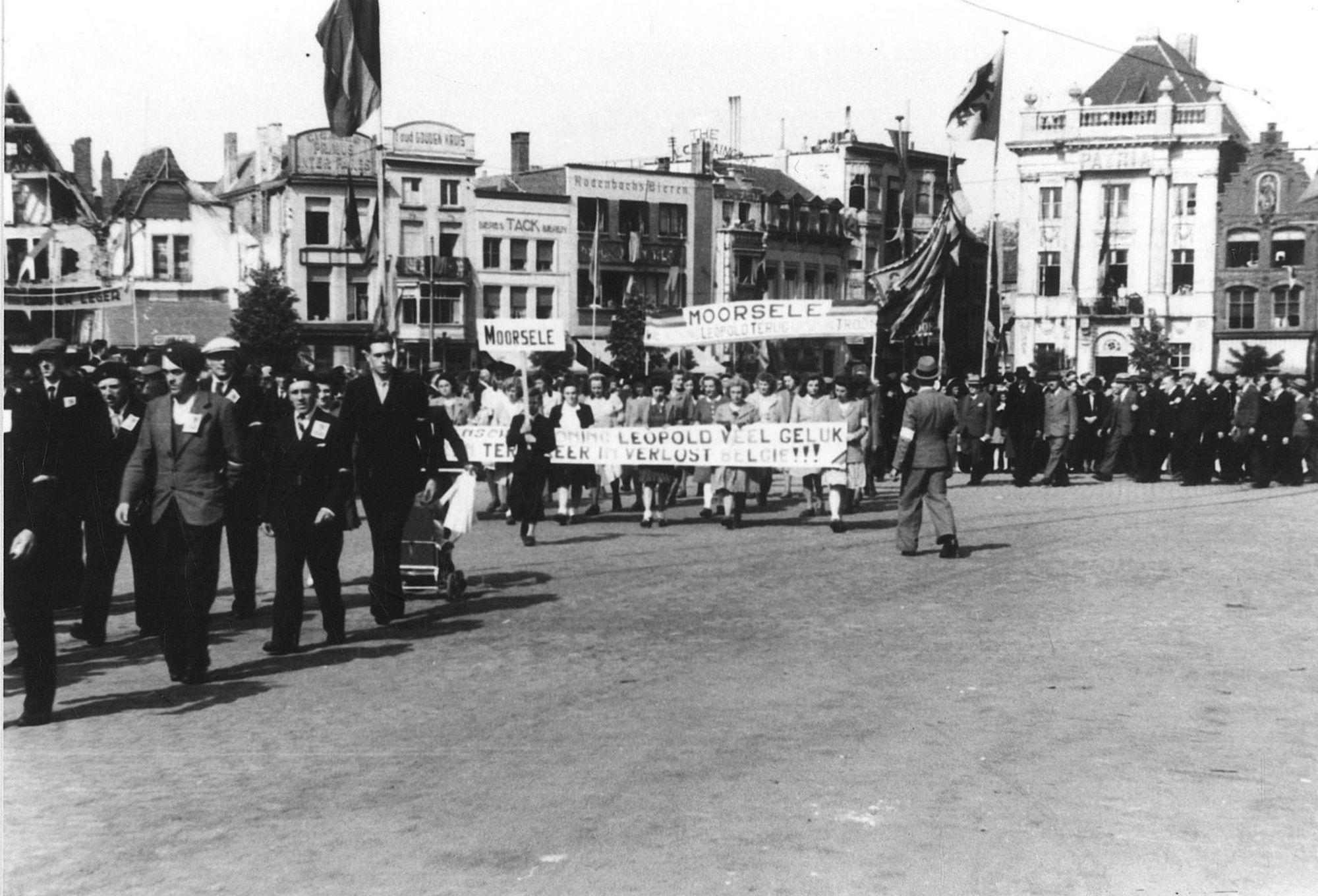 Manifestatie in 1945