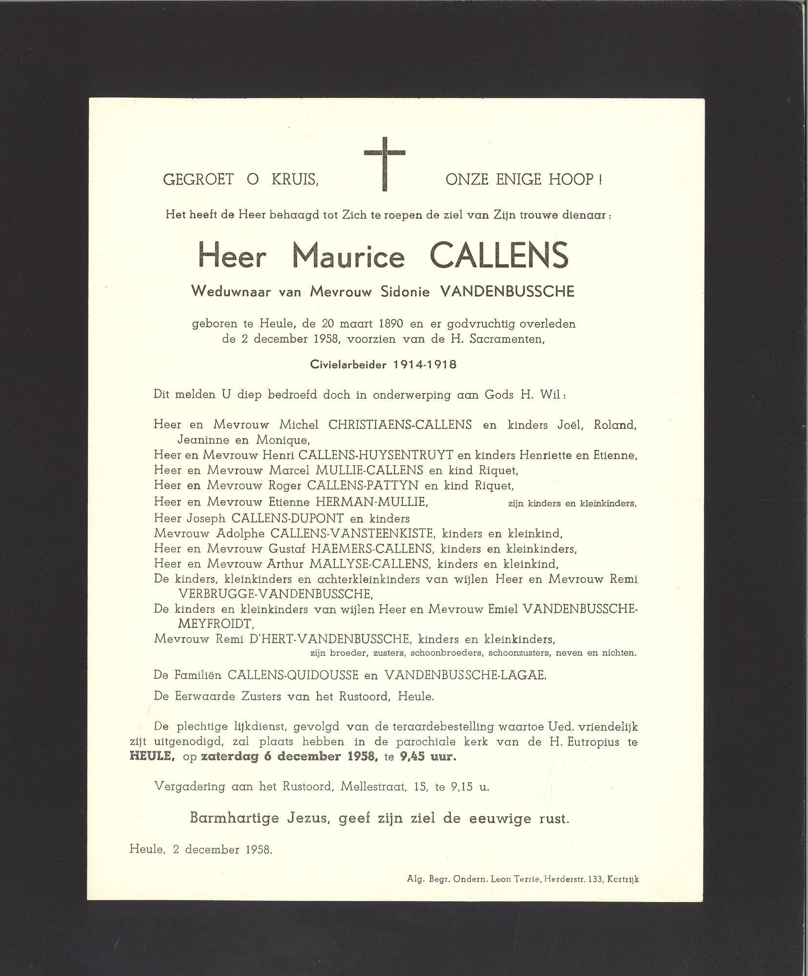 Callens Maurice