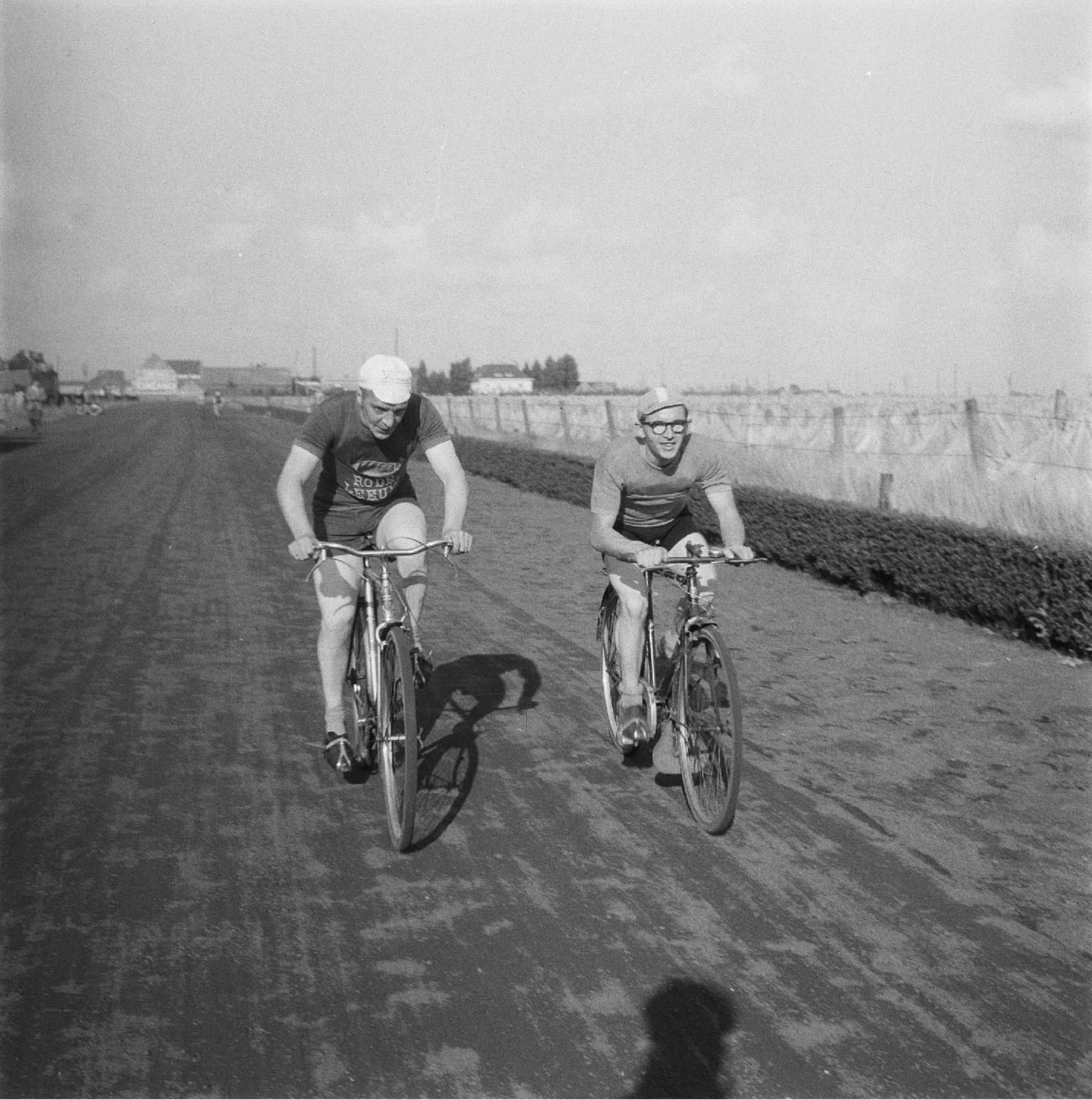 Hippodroomstraat - wielerwedstrijd anno 1955