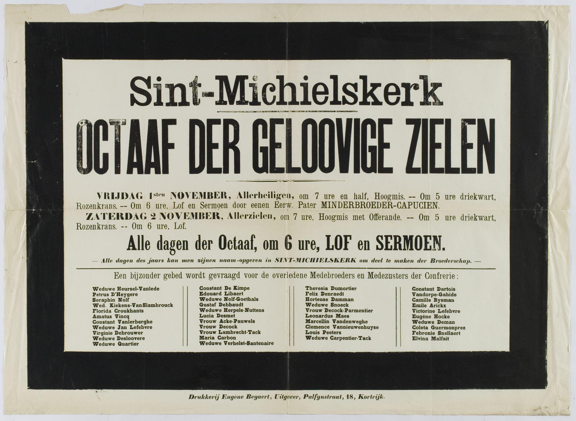 Plechtigheden Sint Michielskerk