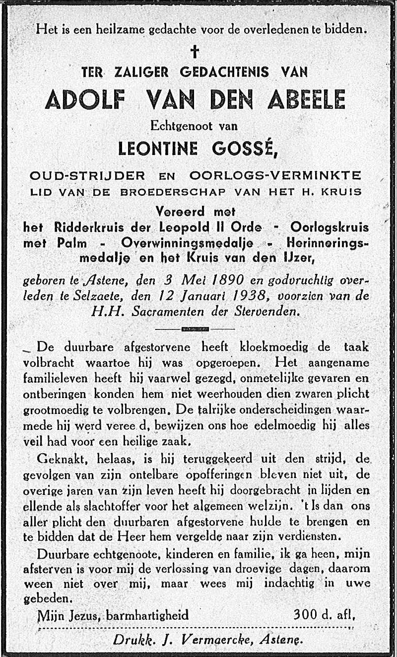 Adolf Van Den Abeele