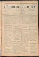 L'echo De Courtrai 1911-07-23 p1