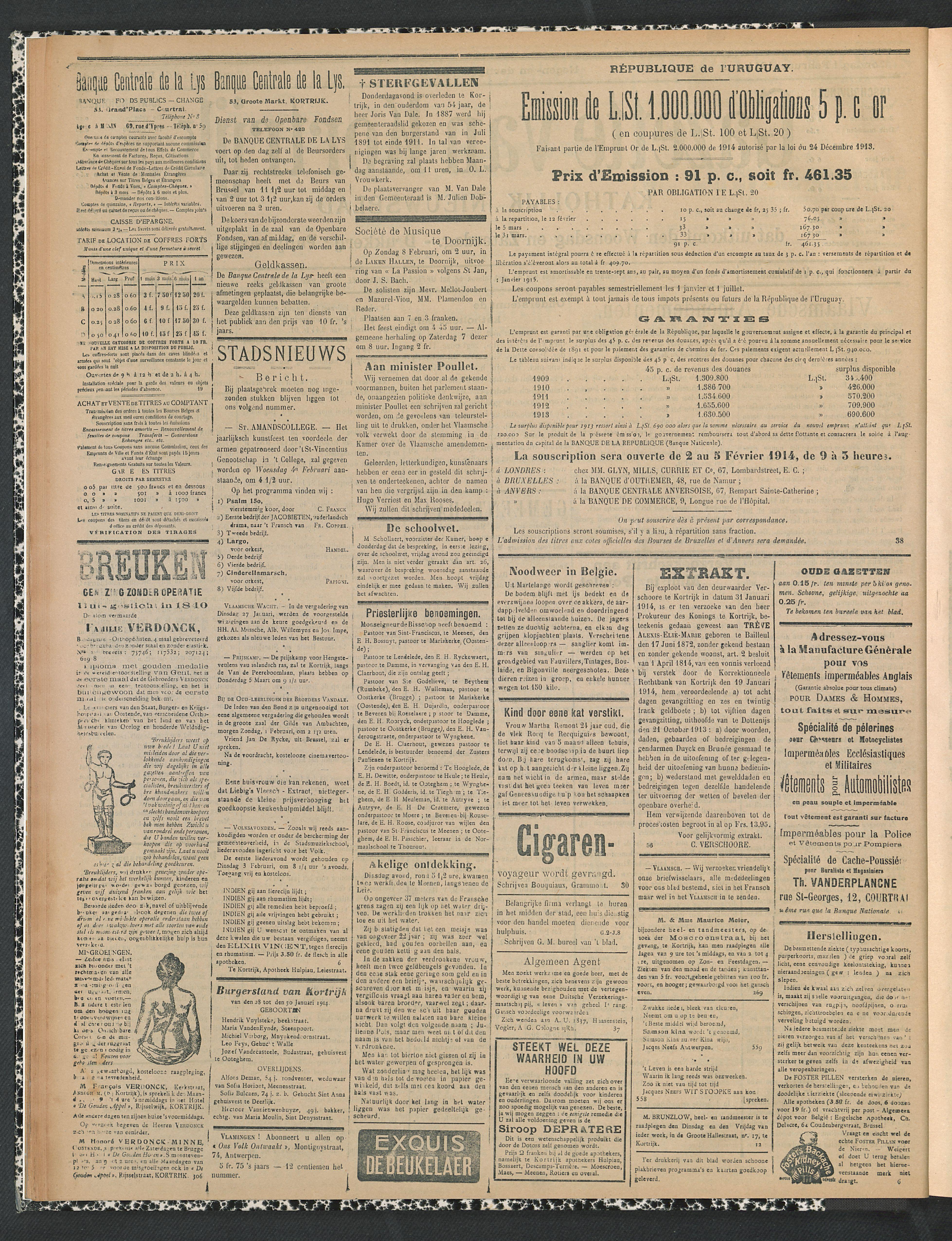 Gazette Van Kortrijk 1914-02-01 p2