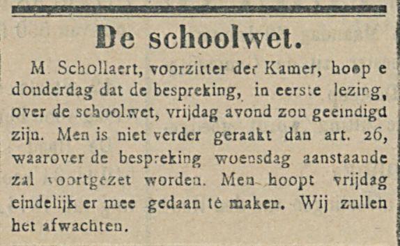 De schoolwet