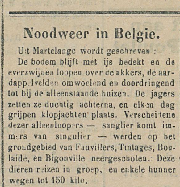 Noodweer in Belgie