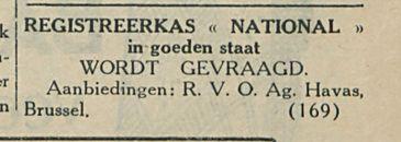 REGISTREERKAS NATIONAL
