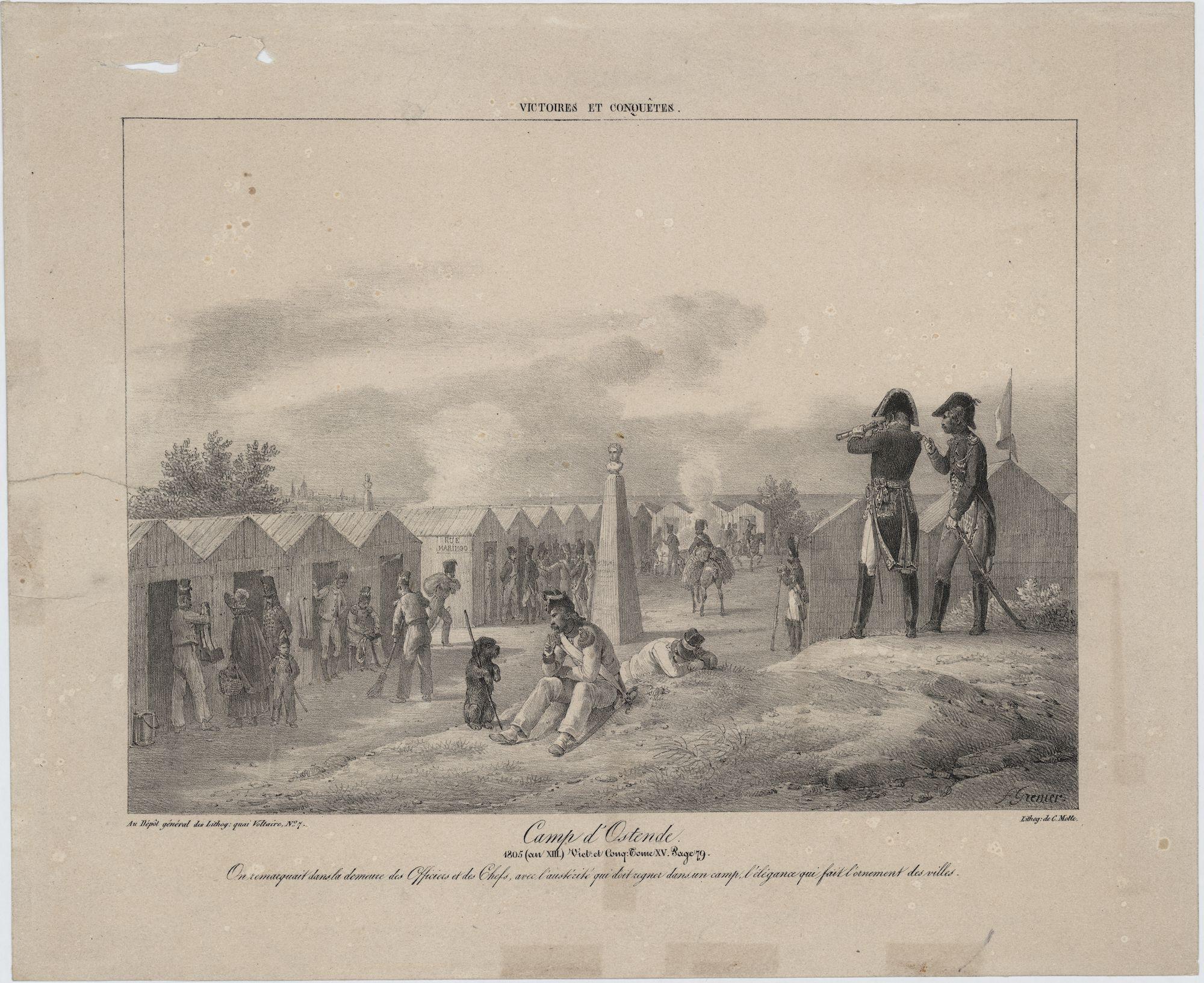 Westflandrica - Oostende, Frans legerkamp in 1805
