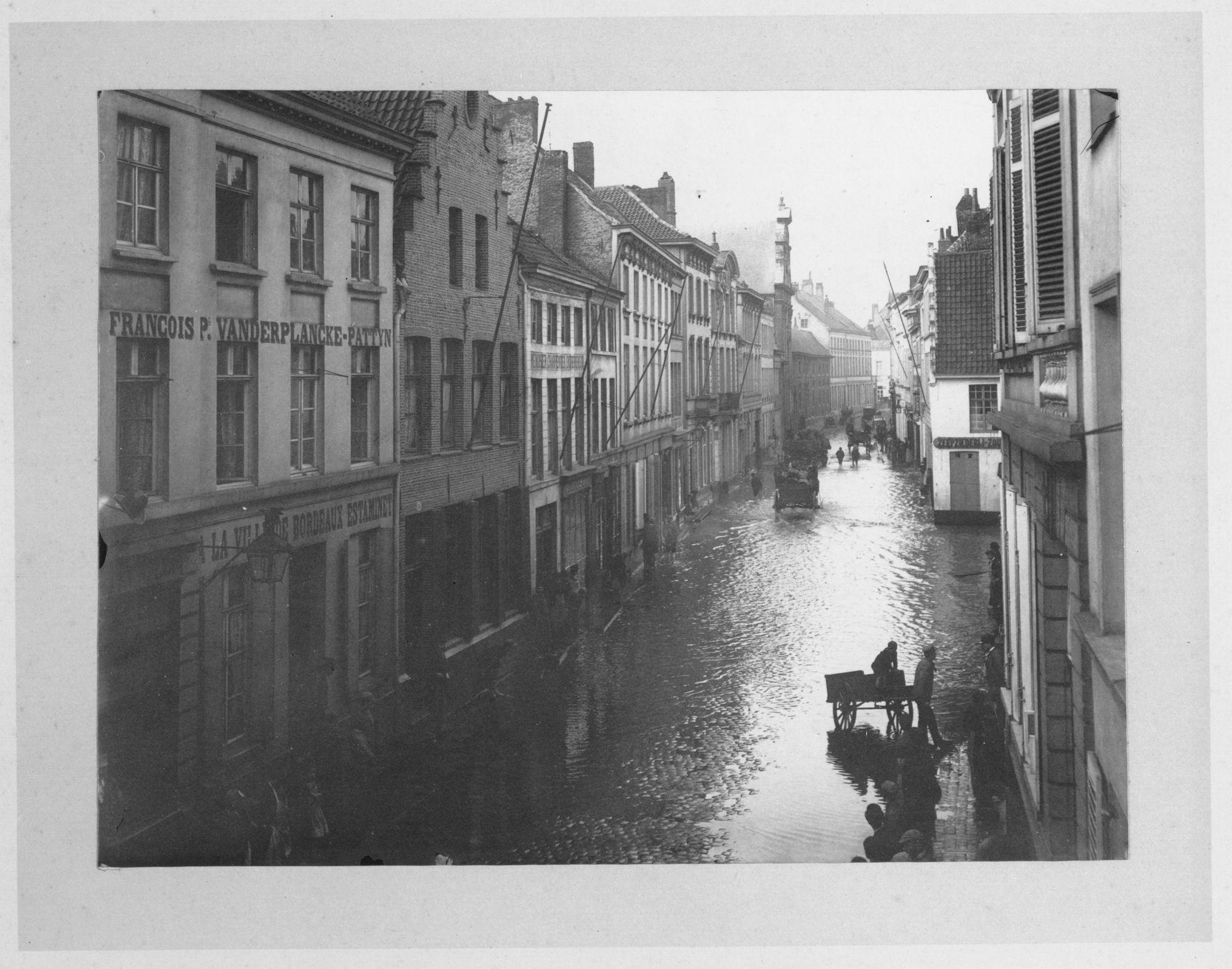 Overstroming Budastraat 1897