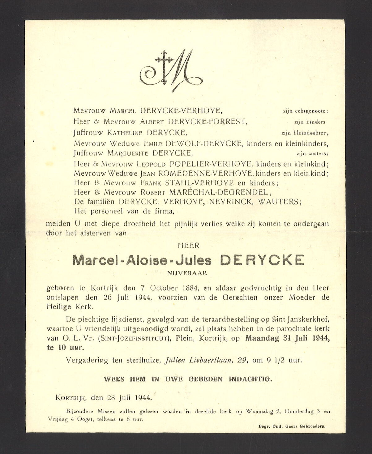 Marcel-Aloise-Jules De rycke