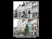 Doorniksestraat rond 1935 en in 2008