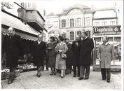 Koningin Fabiola op bezoek in Kortrijk