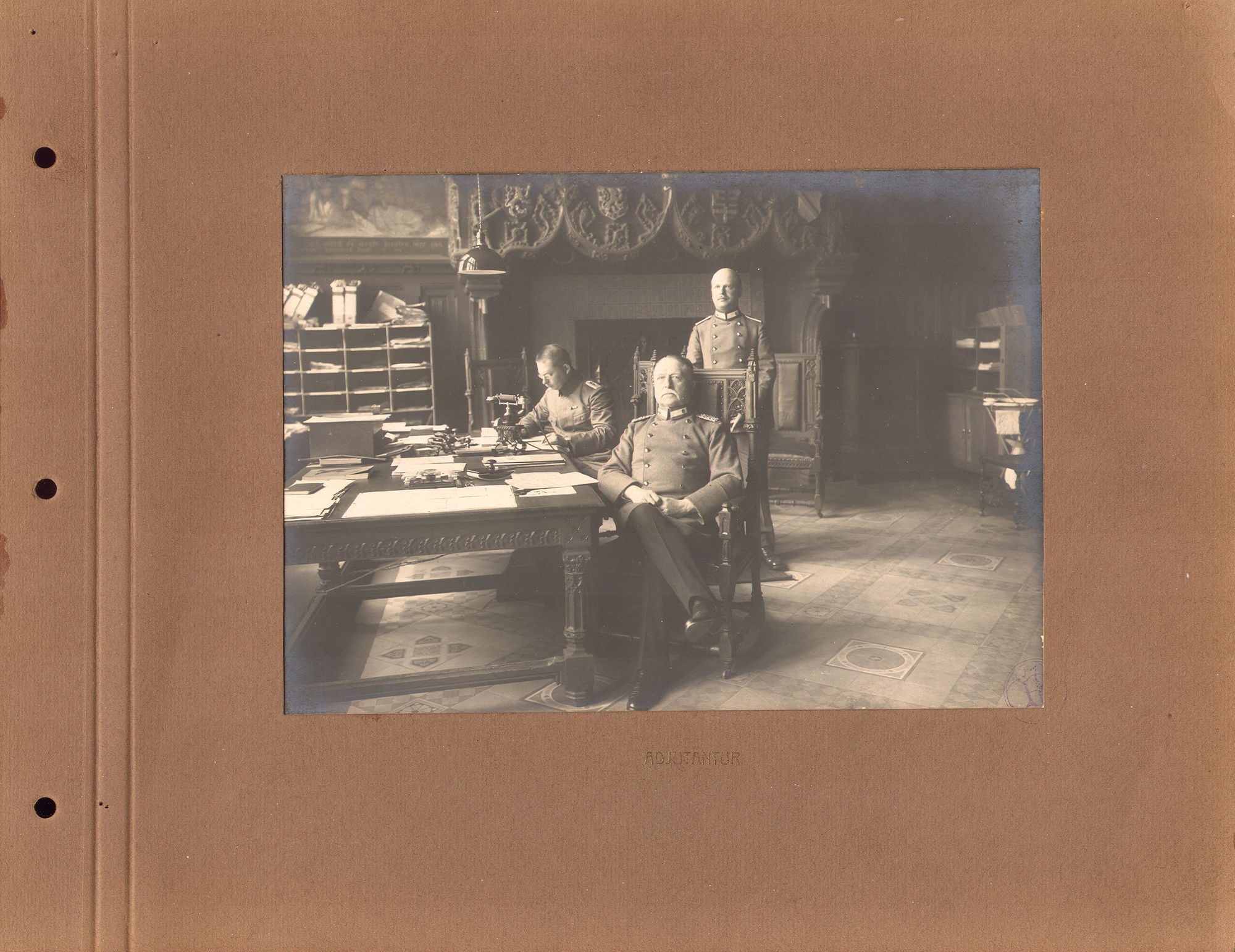 Bureau Duitse bezetter tijdens Wereldoorlog I
