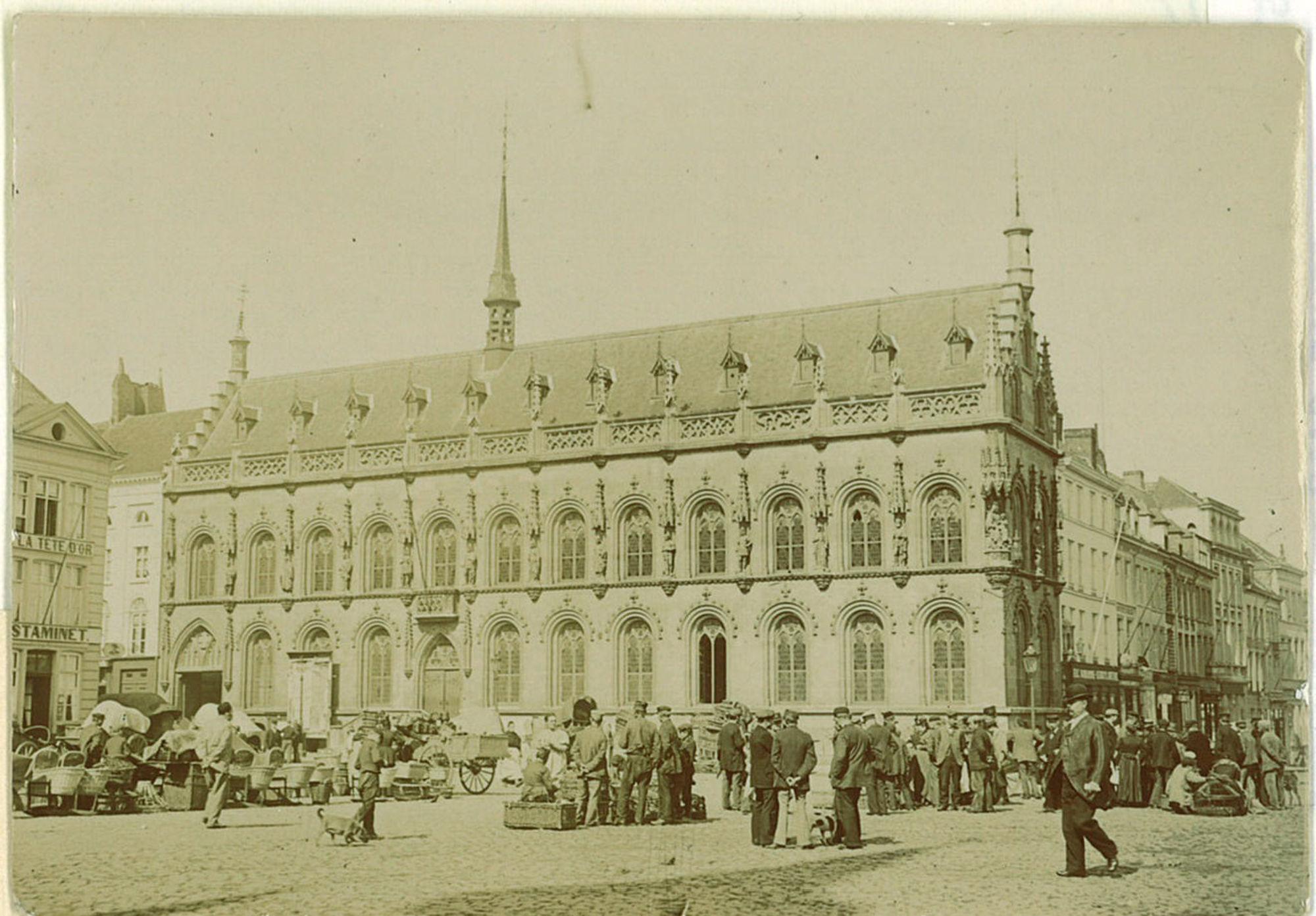 Maandagmarkt in 1900