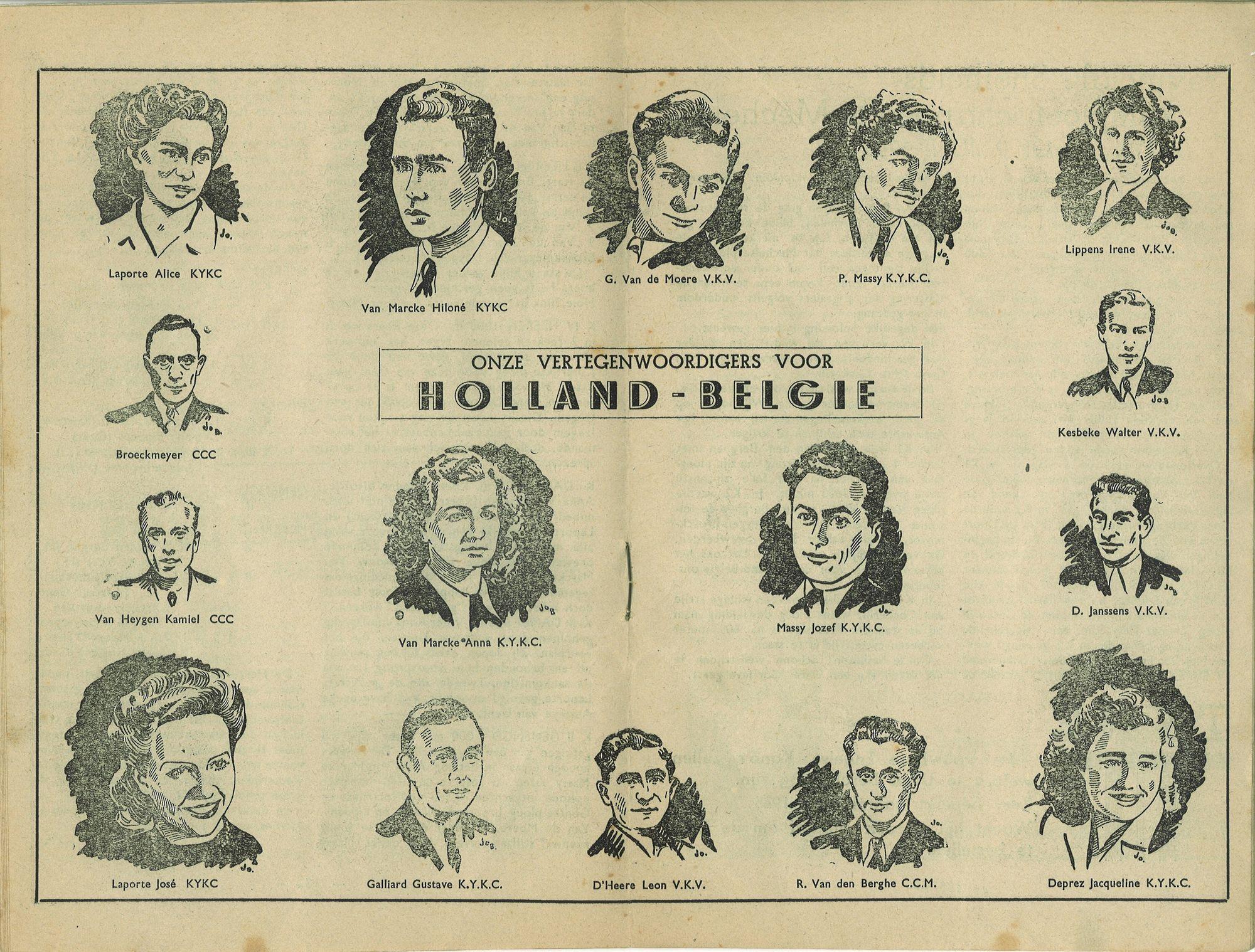 Kajak delegatie Holland-België 1946