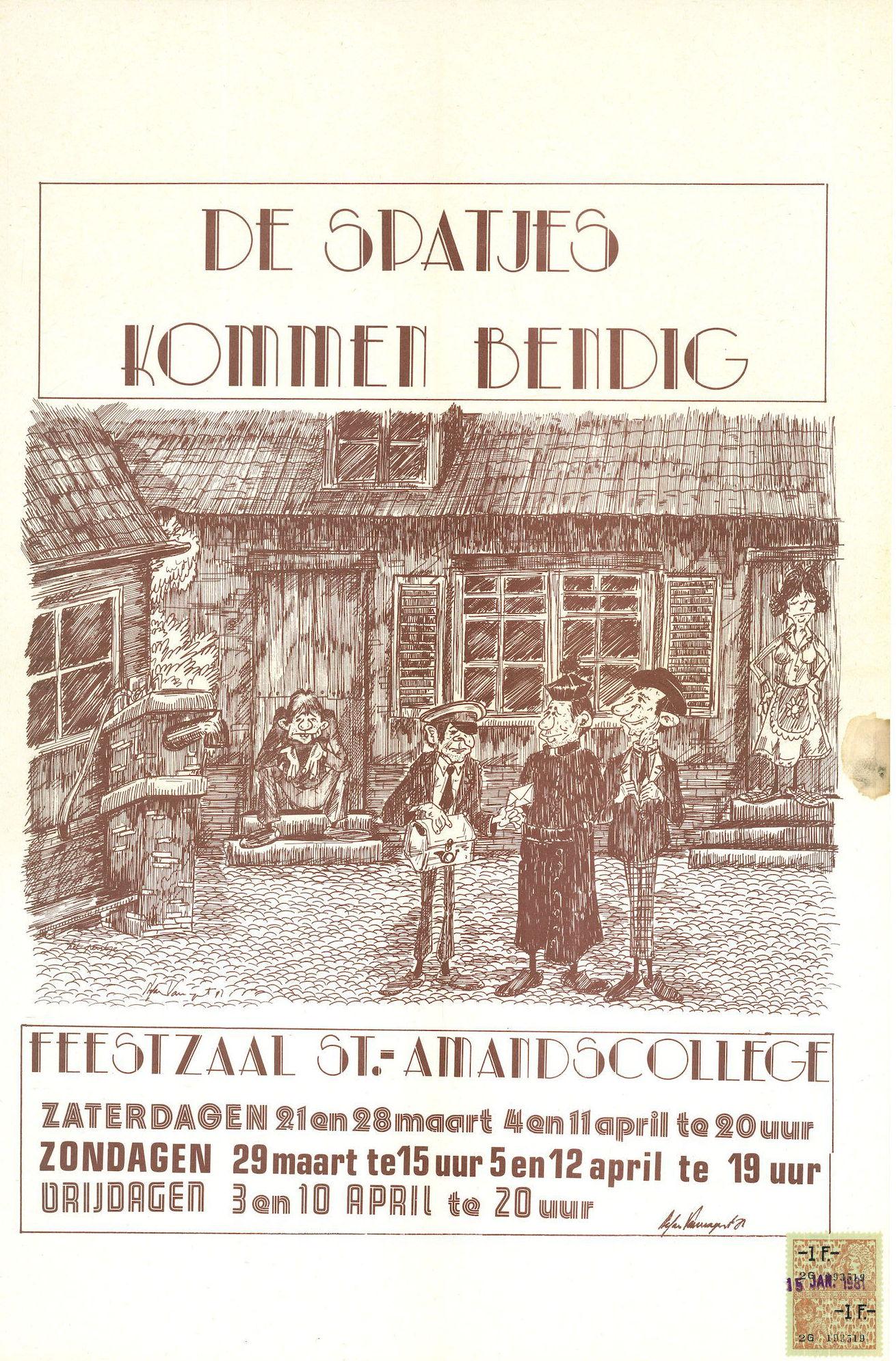 """Toneelvereniging """"De Spatjes"""" 1981"""