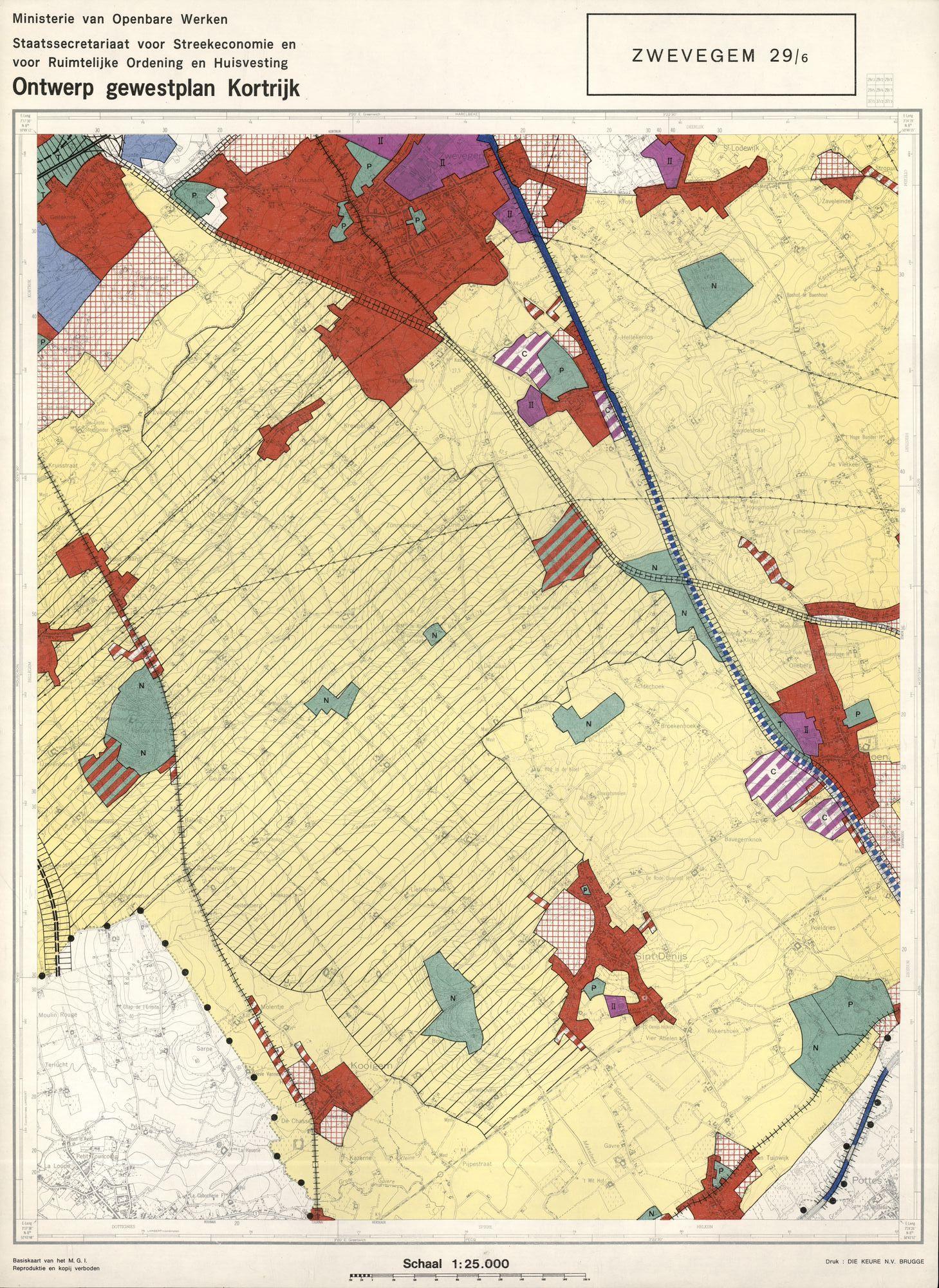 Ontwerp gewestplan Kortrijk, 1974