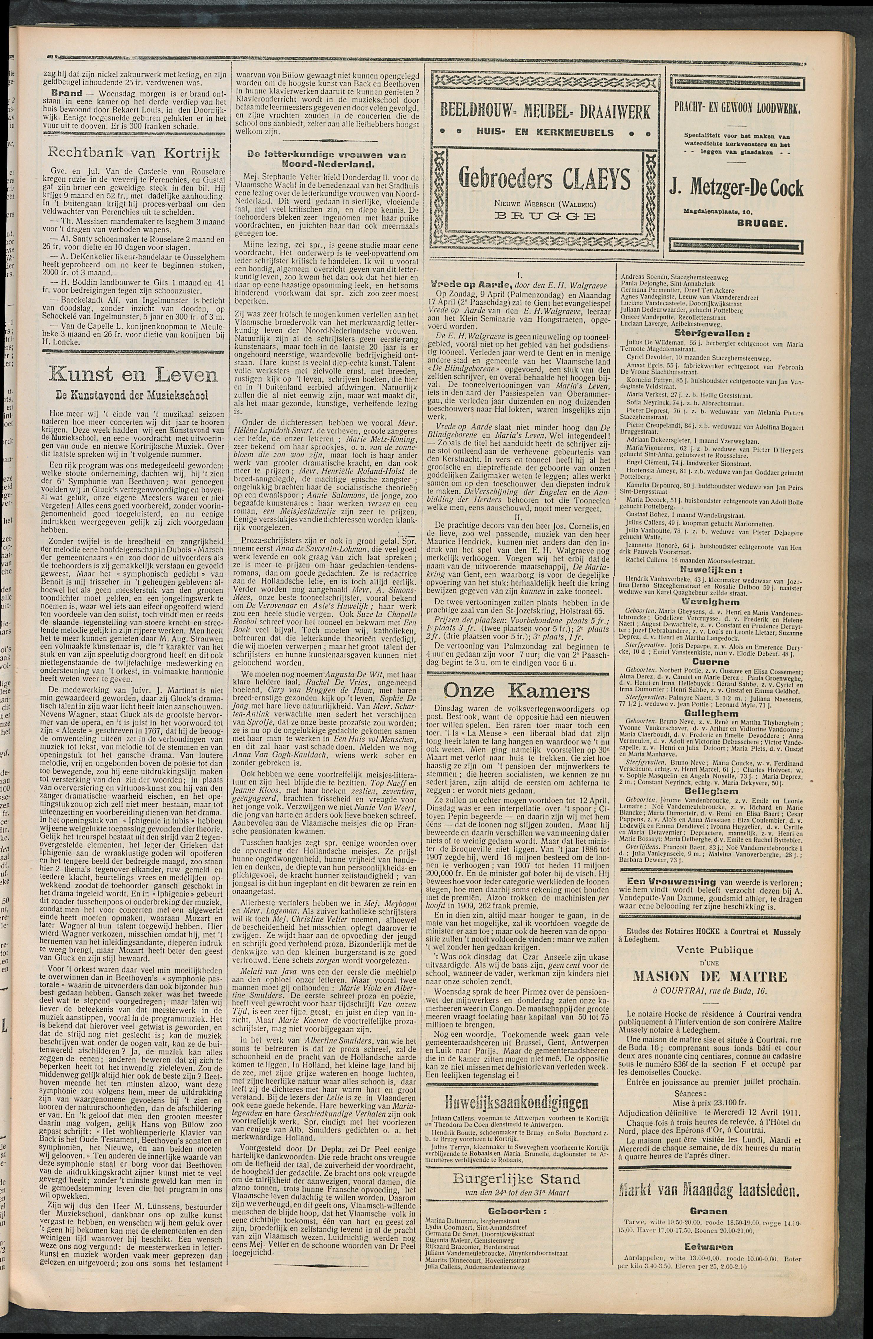 Het Kortrijksche Volk 1911-04-02 p3
