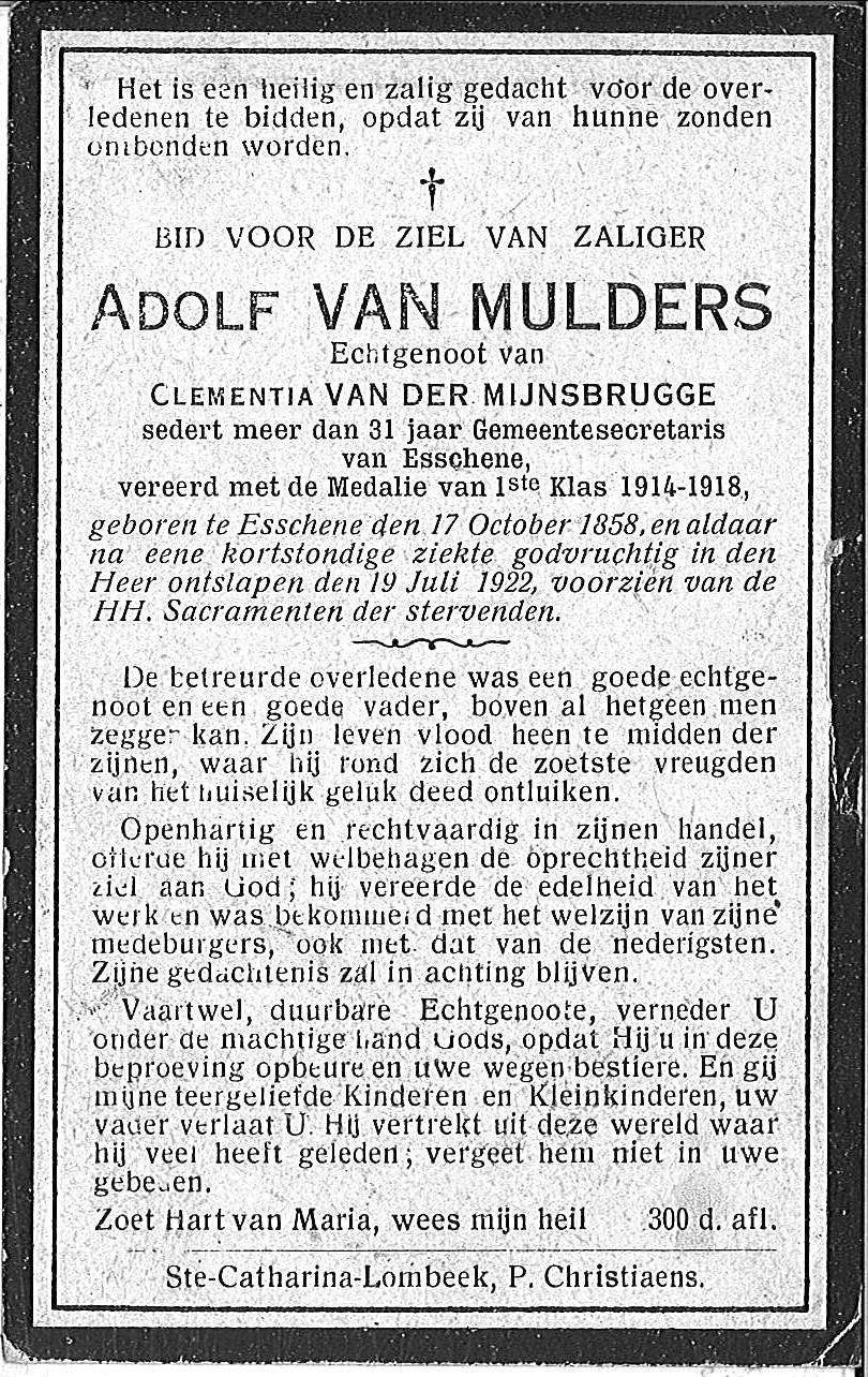 Adolf Van Mulders