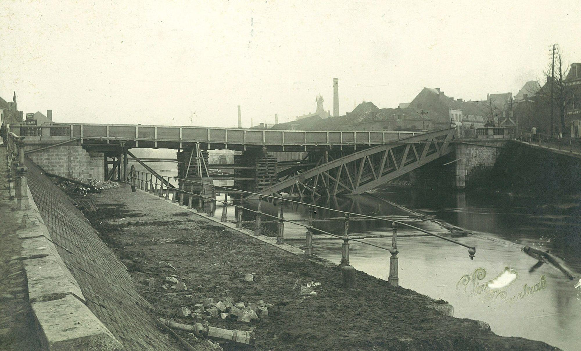 Noordbrug tijdens Wereldoorlog I