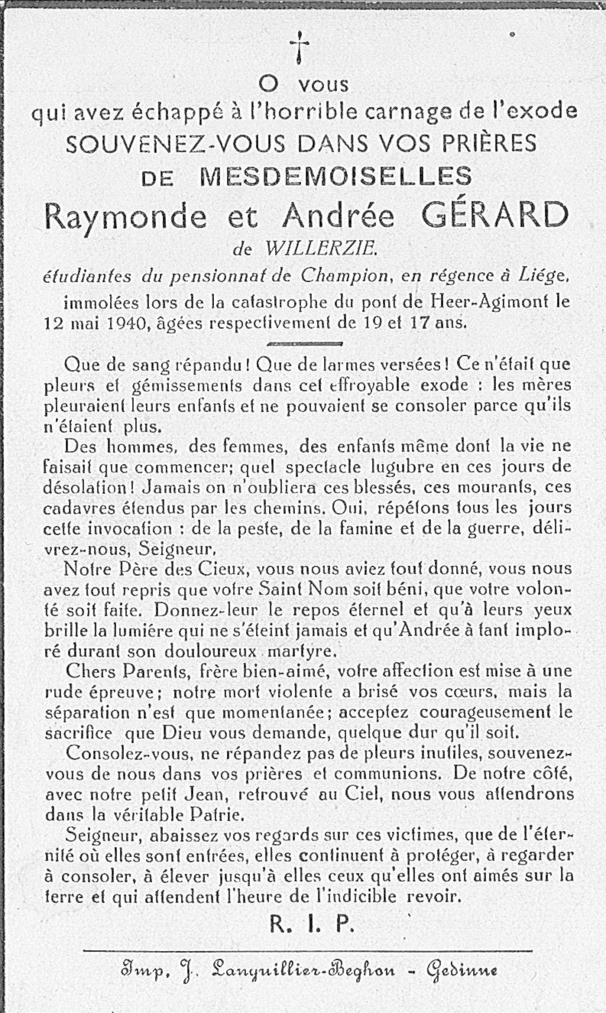 Andrée Gérard de Willerzie