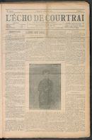 L'echo De Courtrai 1910-01-09 p1