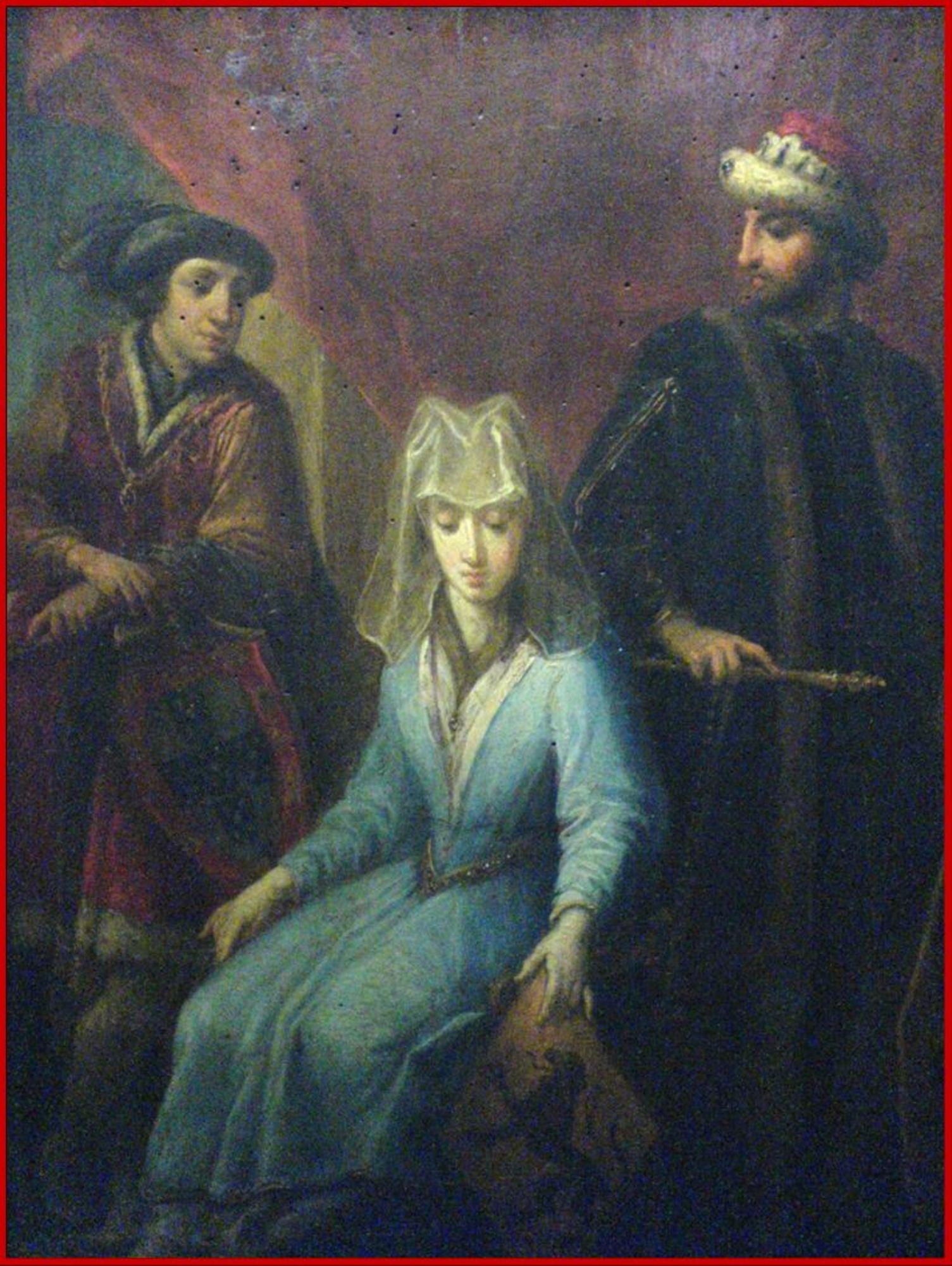 Johanna met twee echtgenoten - schilderij in Rijsel.