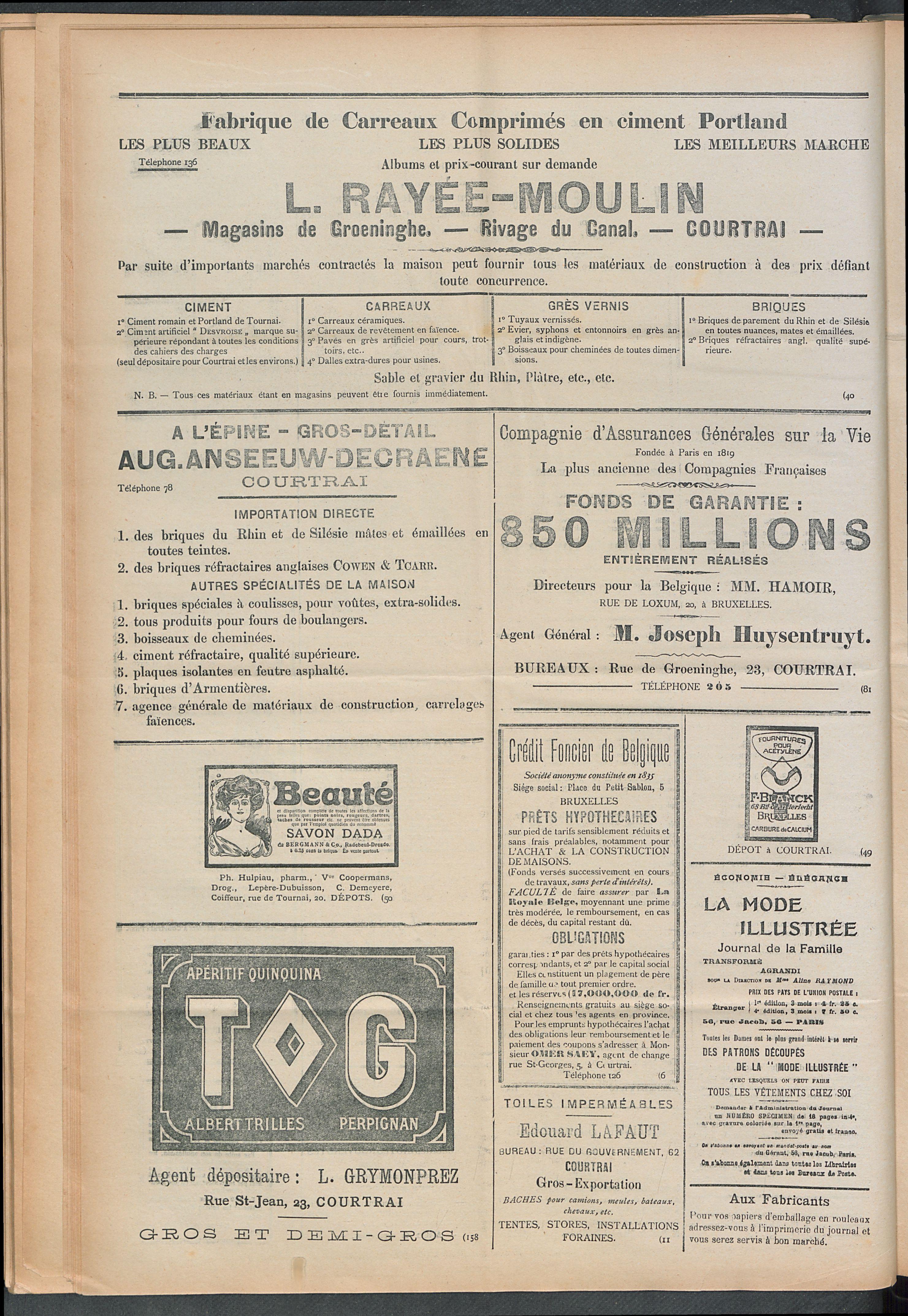 L'echo De Courtrai 1910-07-14 p4