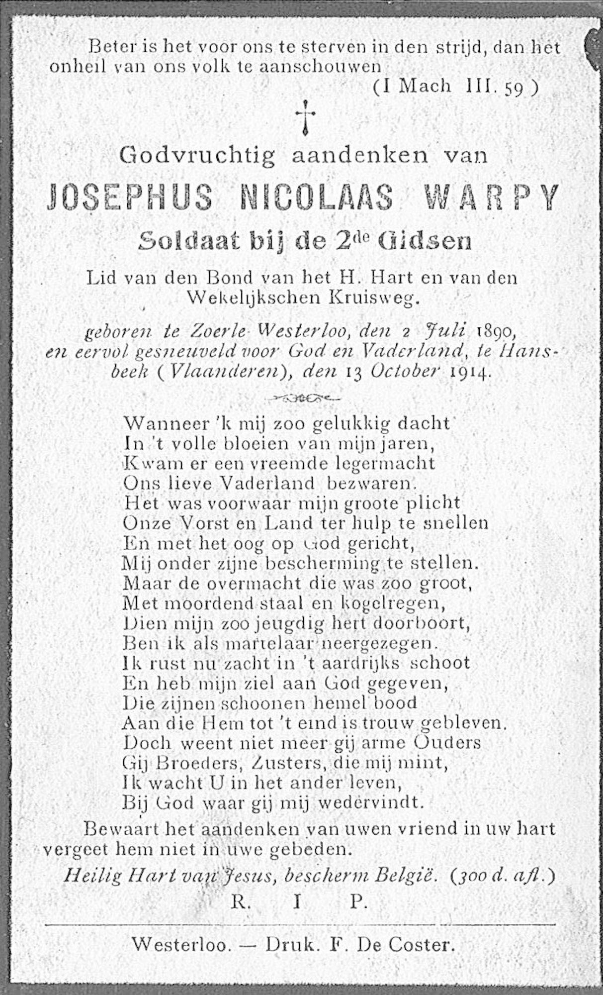 Josephus Nicolaas Warpy