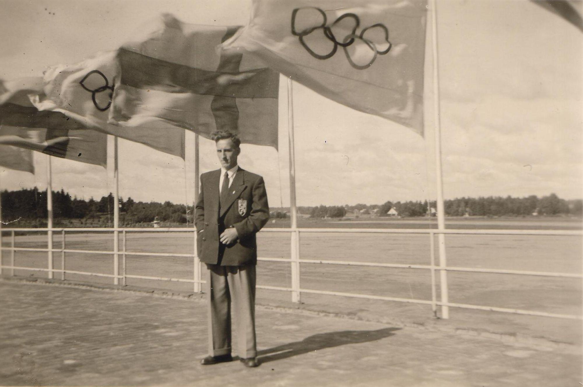 Hilaire Deprez in Henley 1948