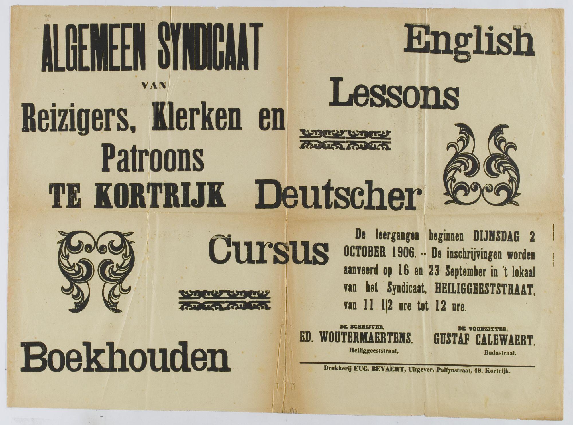 Algemeen syndicaat van Reizigers Klerken en Patroons