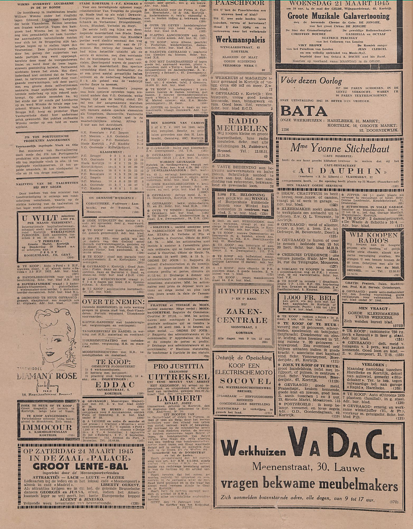 Kortrijksch Handelsblad 21 maart 1945 Nr23 p2
