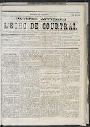 L'echo De Courtrai 1873-05-18 p1