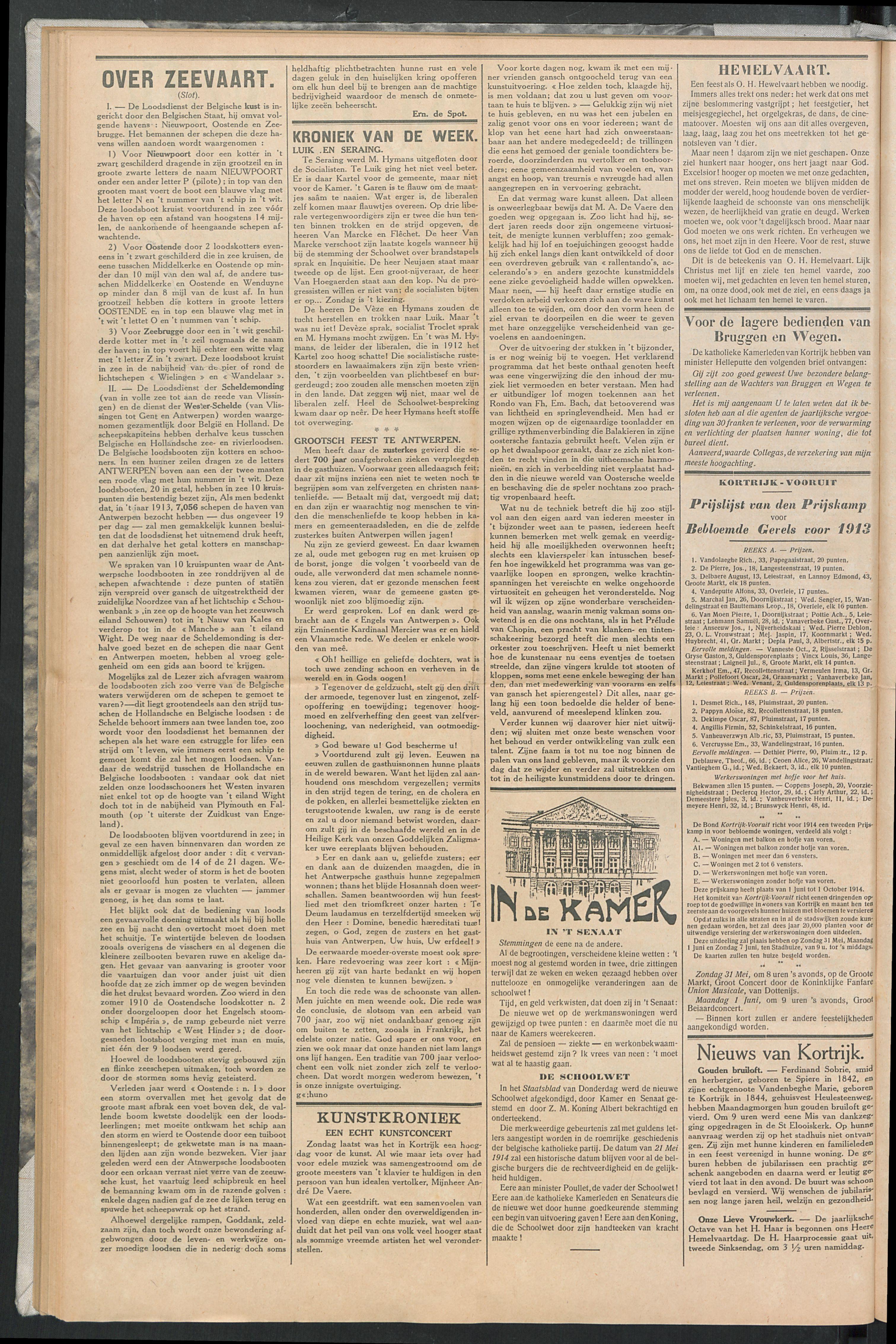 Het Kortrijksche Volk 1914-05-24 p2
