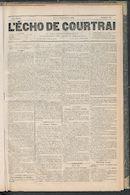 L'echo De Courtrai 1889-09-05