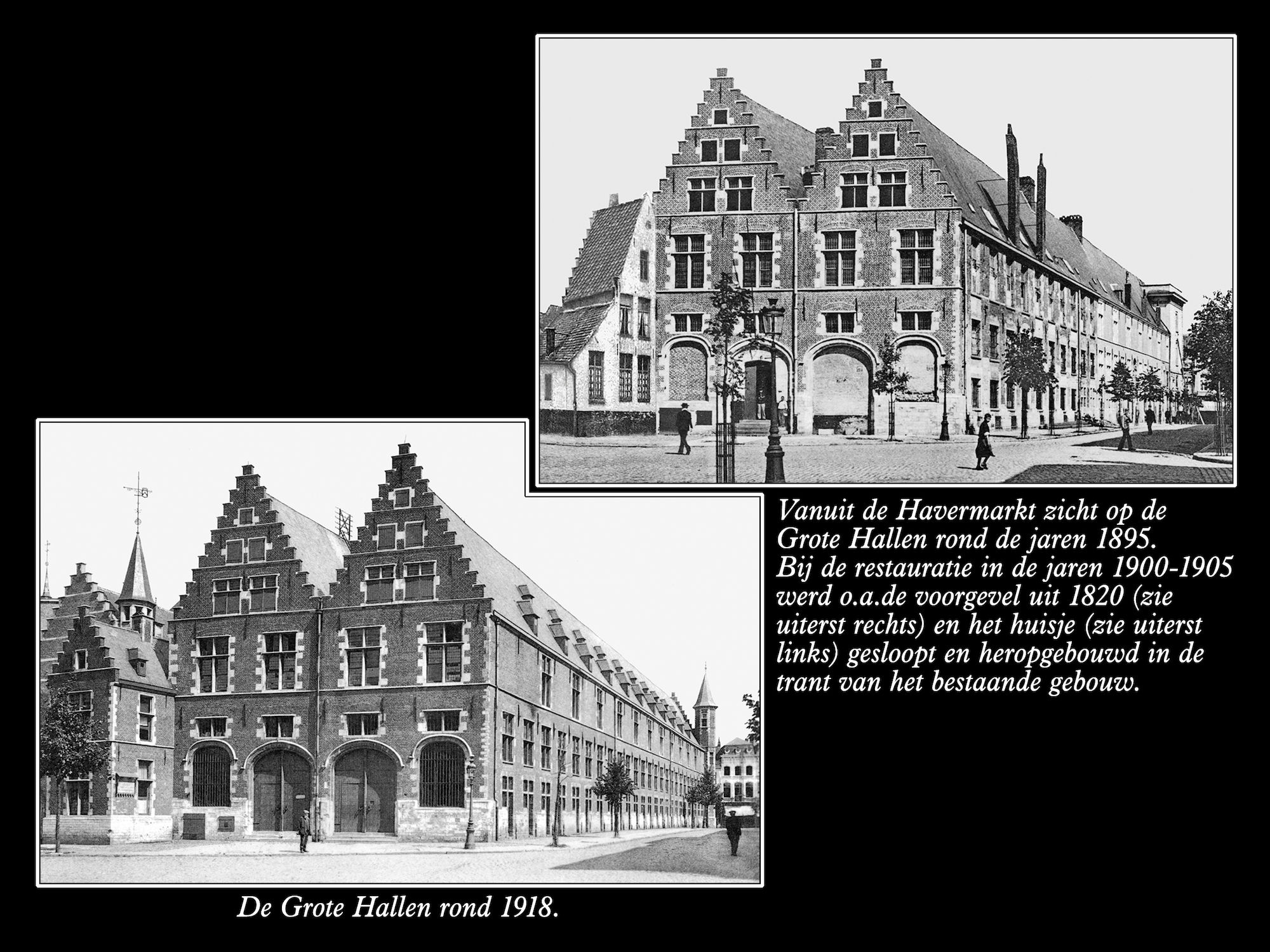 Grote Hallen ca 1895 en 1918
