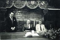 Ambassadeur van Marokko te gast op het Stadhuis 1987