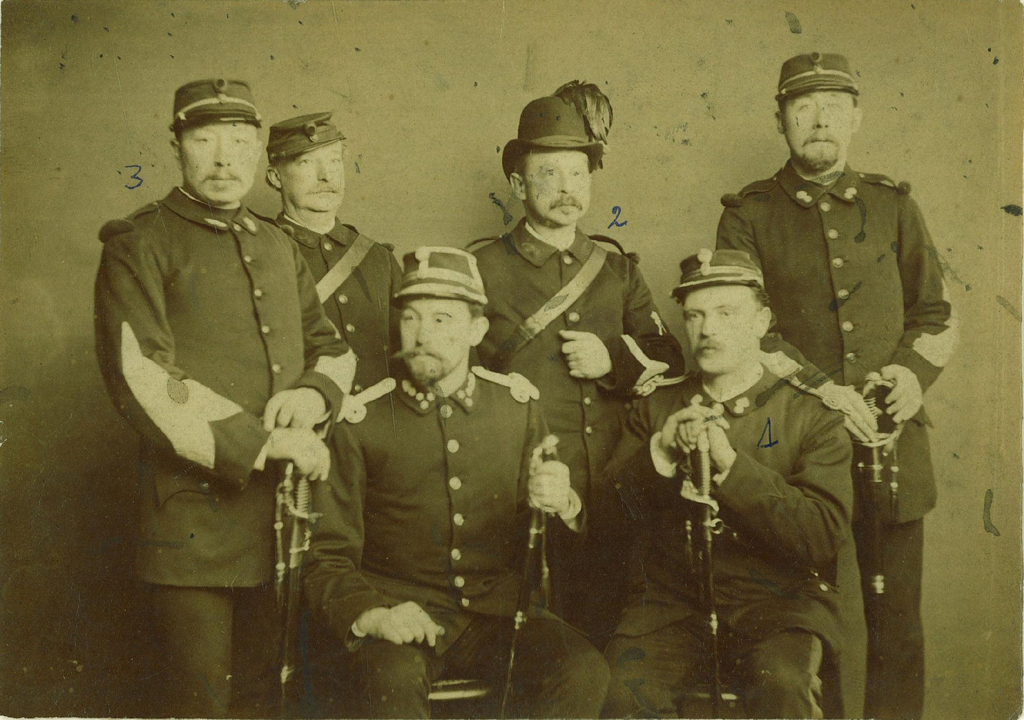 De burgerwacht in 1895