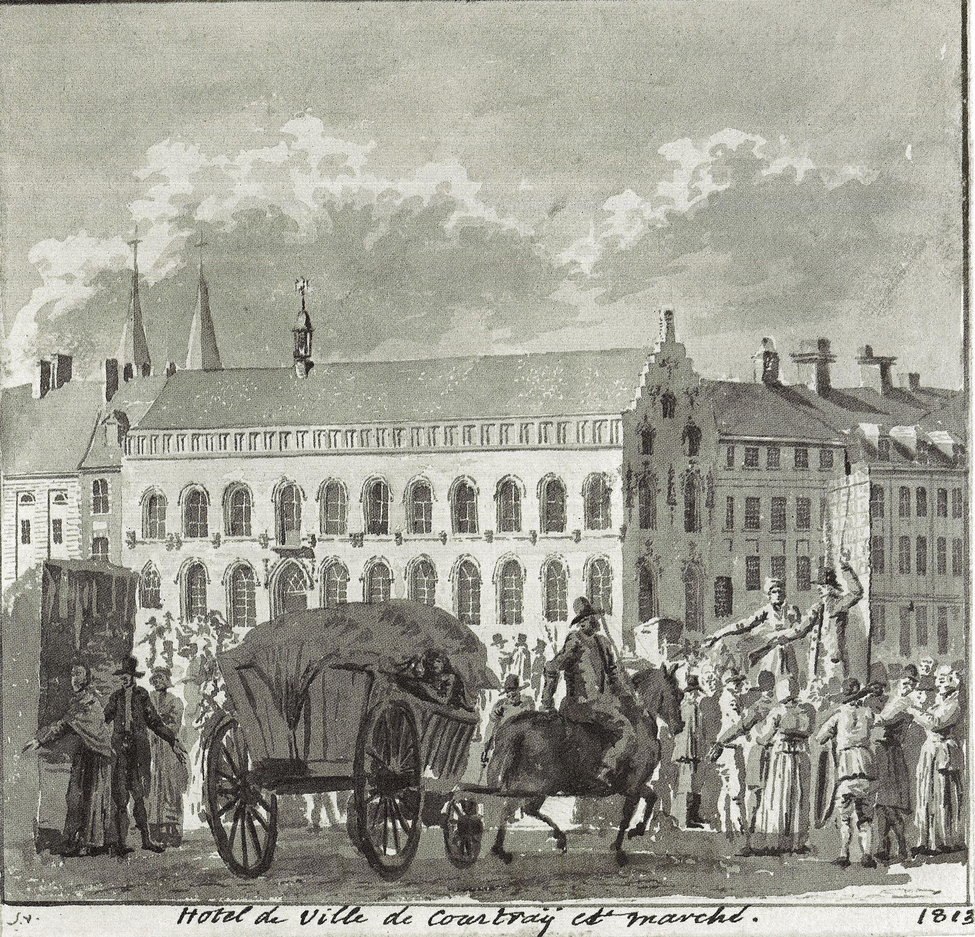 Stadhuis en Grote Markt 1813