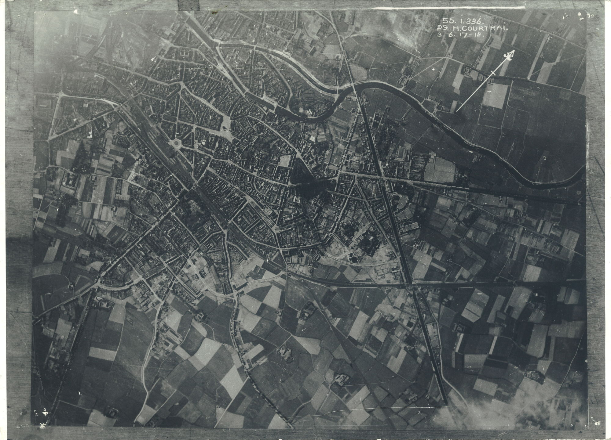 Luchtfoto in 1917
