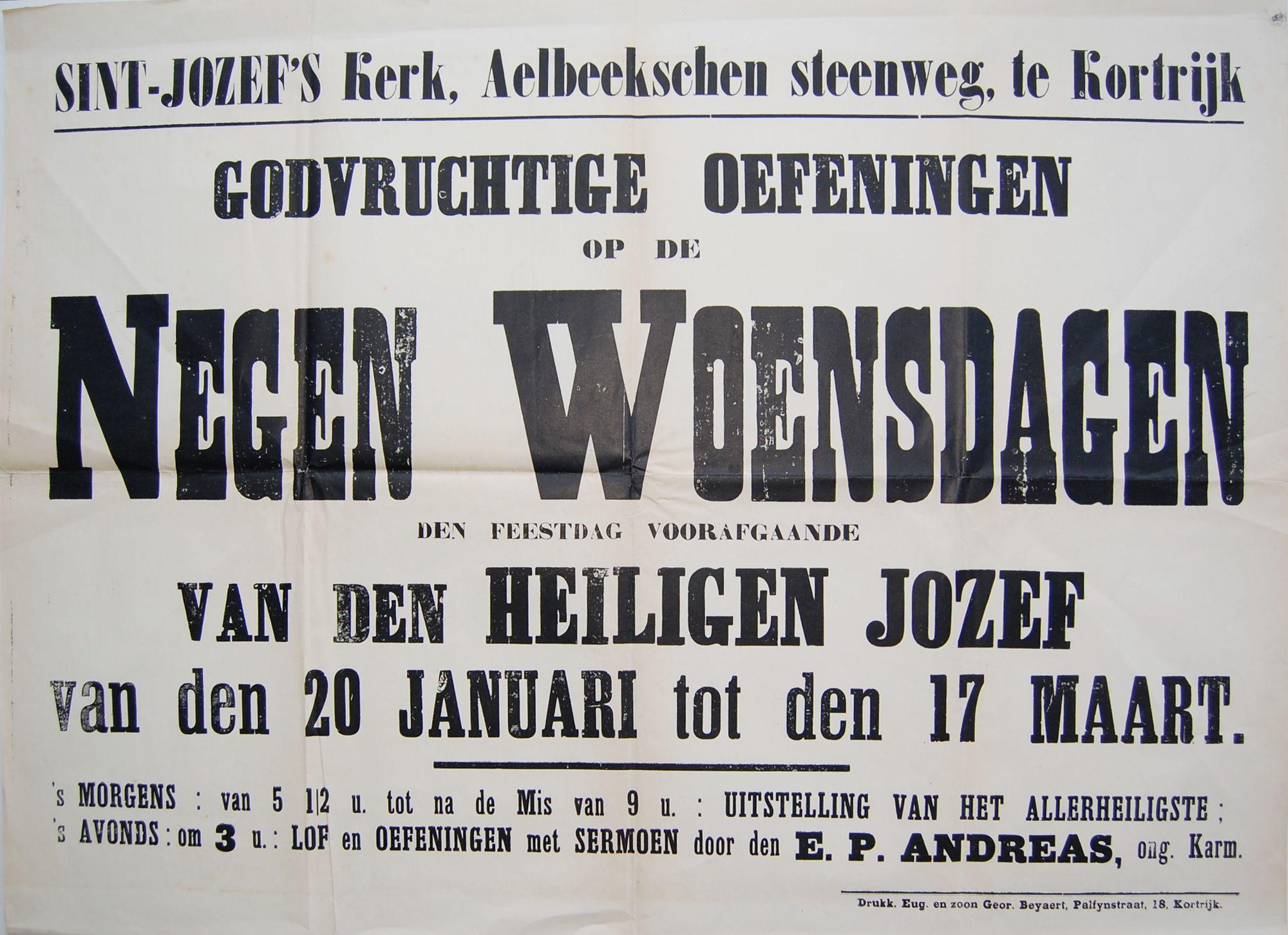 Gebedsdiensten Sint-Jozefskerk
